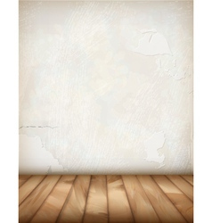 White Plaster Wall Wood Floor vector image