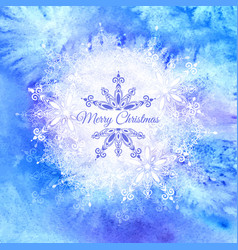 blue watercolor winter background vector image vector image