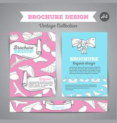lingerie brochure underwear background vector image