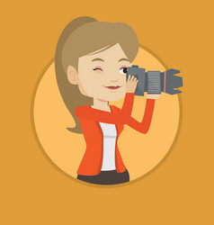 photographer taking photo vector image