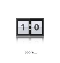 PrintScore board vector image