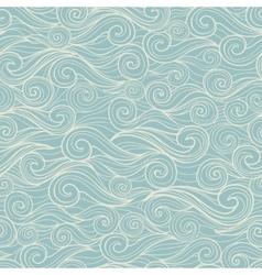 Sea waves seamless pattern vector image vector image