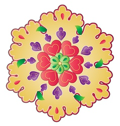traditional Ottoman design with a pattern of two vector image vector image