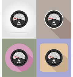 car equipment flat icons 13 vector image vector image
