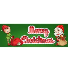 Christmas text vector image