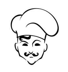 French chef in toque hat vector