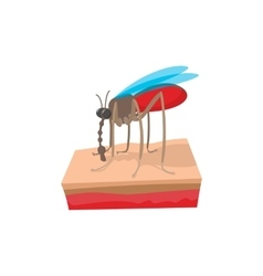 Mosquito on the skin cartoon icon vector