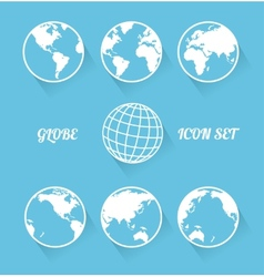 Vecrot globe icon set Modern flat style vector image vector image
