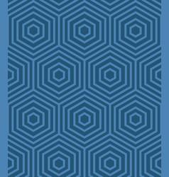blue geometric pattern vector image vector image