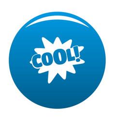 comic boom cool icon blue vector image