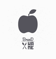 hand drawn silhouette of apple vector image vector image