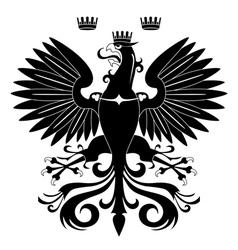 heraldic eagle vector image vector image