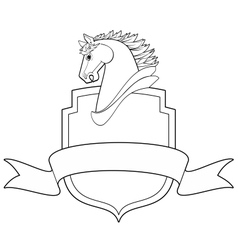 horse shield vector image
