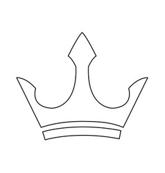 male crown luxury object royal emblem outline vector image