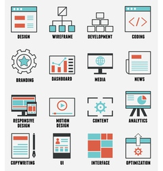 Set of e-commerce and internet service icons vector image vector image
