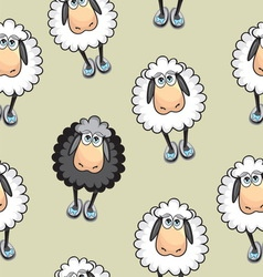Sheep Seamless pattern vector image vector image