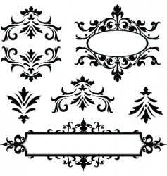vector decorative frame ornaments vector image vector image