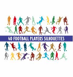 20 soccer playing footbal various design set vector image