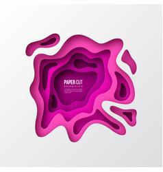 3d paper cut style purple background vector