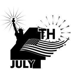 4th july independence day -1 vector image