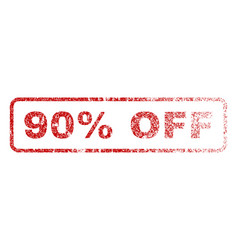 90 percent off rubber stamp vector