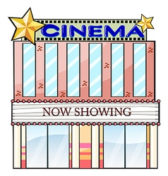 A cinema theater building vector