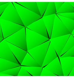 Abstract green paper triangle background vector image