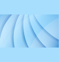 abstract light blue halftone paper cut background vector image