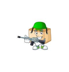 An elegant basbousa as army having machine gun vector