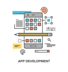 app development concept vector image