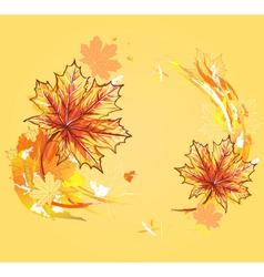 autumn maple leafs vector image