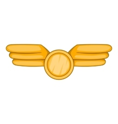 Aviation emblem icon cartoon style vector image