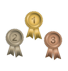 awards with numbers vector image