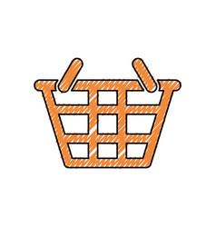 Basket sign doodle vector