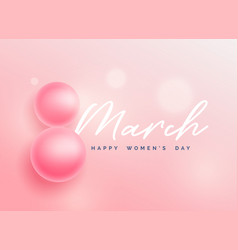 beautiful happy womens day background vector image