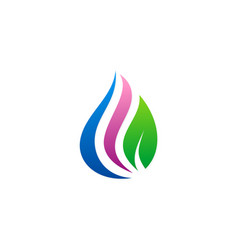 beauty droplet eco logo vector image