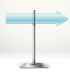 Blank blue transparent arrow board template for a vector