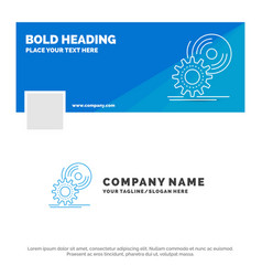 Blue business logo template for cd disc install vector