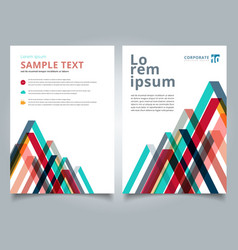brochure layout design template geometric lines vector image