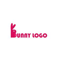 Bunny logo modern concept logo design vector