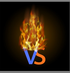 Burning concept of confrontation together final vector