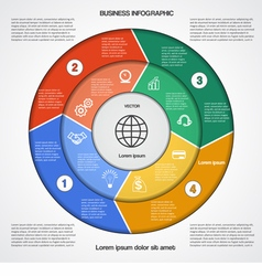 Business circular infographic 4 vector