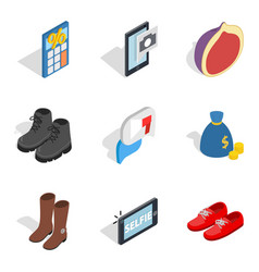 Buy out icons set isometric style vector