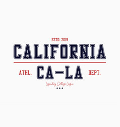 California college typography graphics for vector