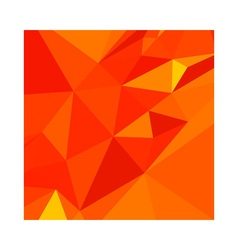 Carrot Orange Abstract Low Polygon Background vector
