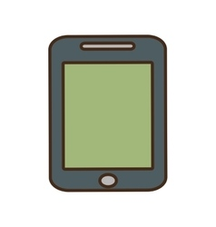 Cartoon smartphone green screen technology gadget vector