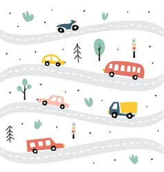 childish transport seamless pattern creative vector image