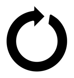 circle arrow the black color icon vector image
