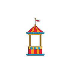 Circus ticket cart icon vector