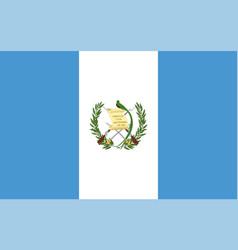 Close up flag guatemala vector